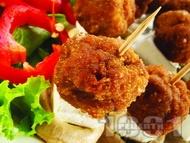 Рецепта Кетъринг парти хапки на клечки със свински канелени пържени мини кюфтенца